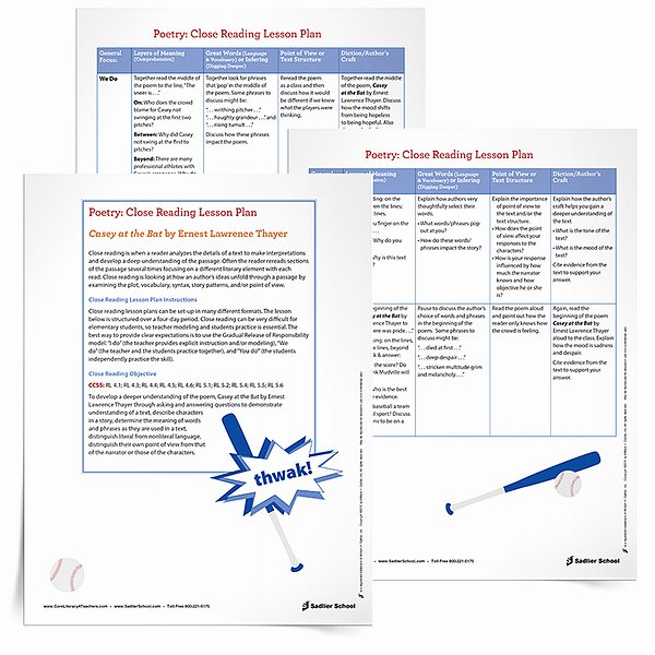 Close Reading Lesson Plan Template Inspirational Celebrate the World Series with Baseball Printables Books
