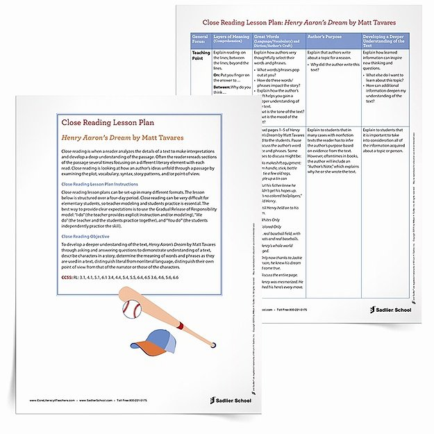 Close Reading Lesson Plan Template Unique Close Reading Lesson Plan Template Henry Aarons Dream 750px