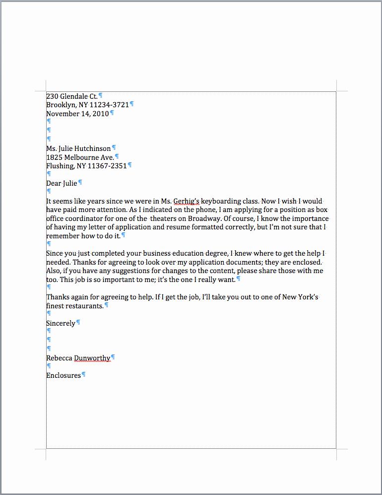 Closing A Letter Of Recommendation Awesome Return Address Date Letter Address Salutation Plim