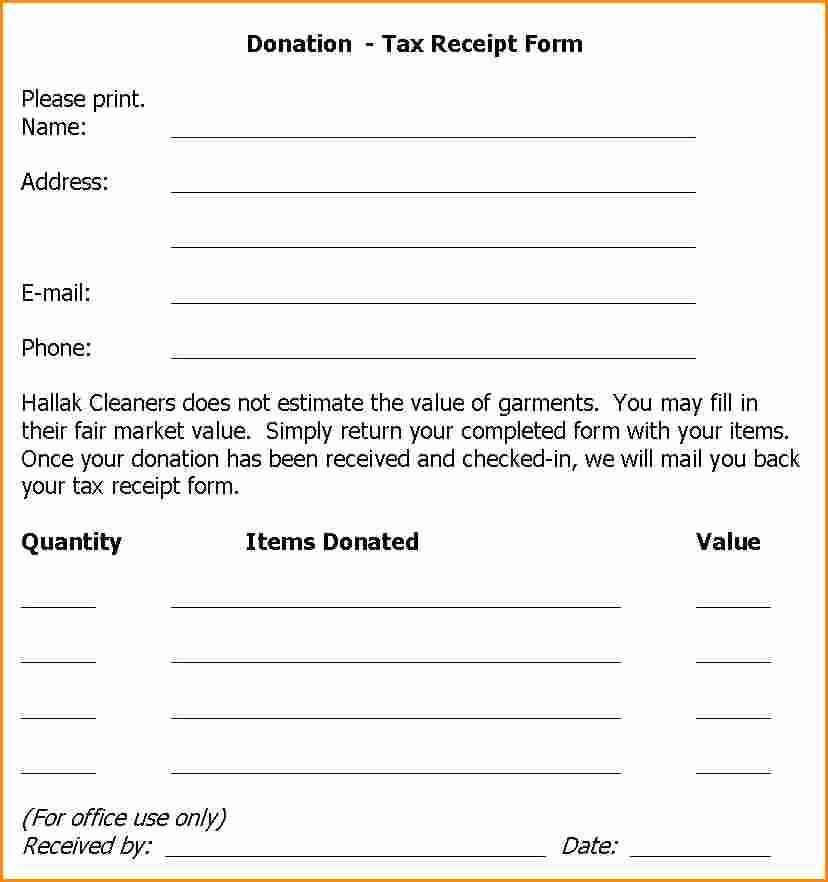 Clothing Donation Receipt Template Unique 5 Clothing Donation Receipt Template