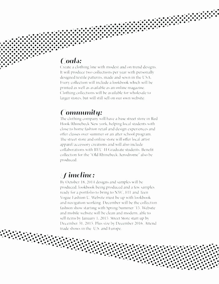 Clothing Line Business Plan Template Beautiful Business Plan for Clothing Retail Clothing Store Business