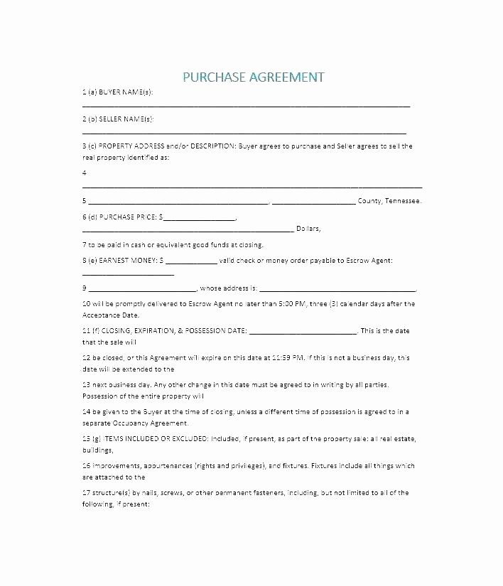 Co Ownership Agreement Real Estate Template Awesome House for Sale Contract Template Word Private Home