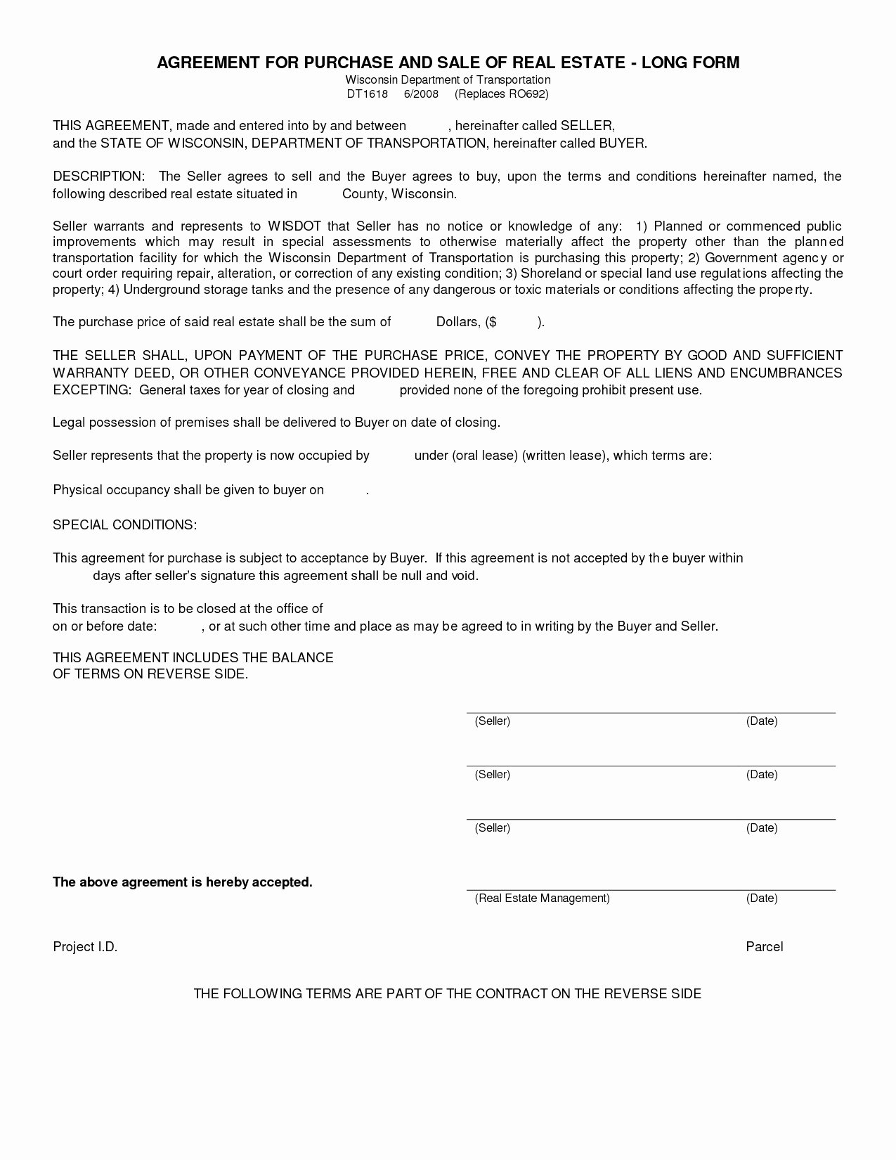 Co-ownership Agreement Real Estate Template Beautiful Mercial Real Estate Purchase Agreement form Wisconsin