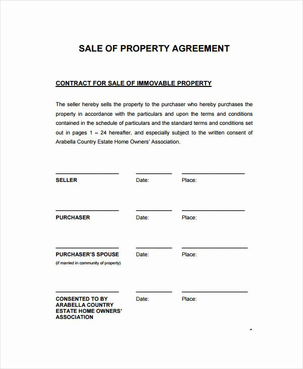 Co Ownership Agreement Real Estate Template Fresh 15 Sales Contract Template Word Pages