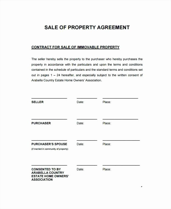 Co Ownership Agreement Real Estate Template Fresh Mobile Home Purchase Agreement Template Sales Contract
