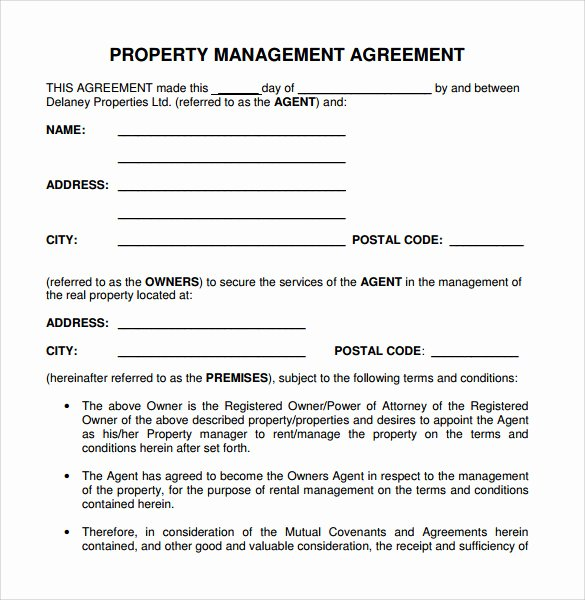 Co Ownership Agreement Real Estate Template Inspirational 12 Management Agreements to Download