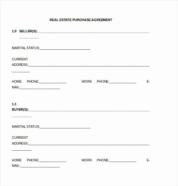 Co-ownership Agreement Real Estate Template Unique Simple Land Purchase Agreement form