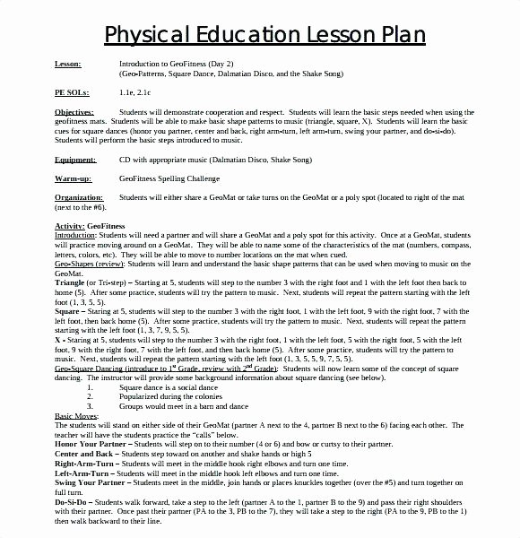 Co Teaching Lesson Plan Template New Physical Education Worksheets for Middle School