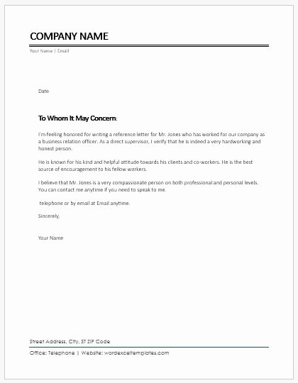Co Worker Letter Of Recommendation Beautiful Character Reference Letter for Coworker