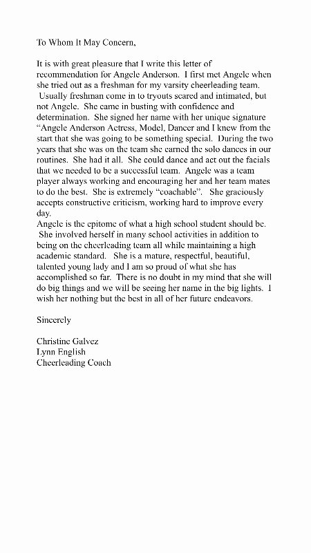 Coaches Letter Of Recommendation Samples Elegant Fundraiser by Angie anderson Help Me Achieve My Dreams
