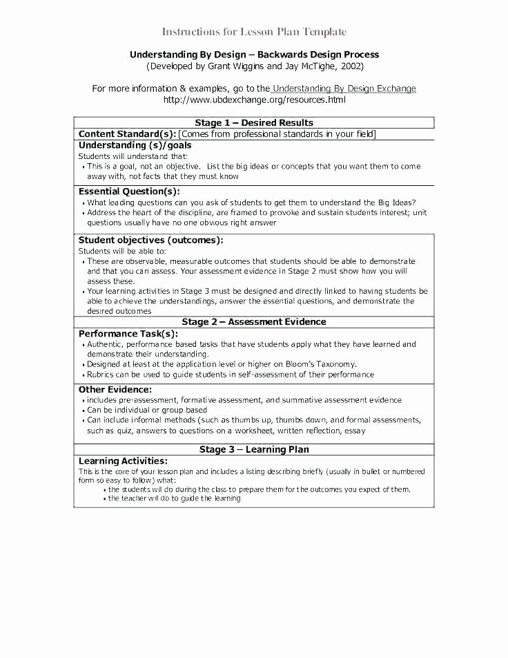 Coe Lesson Plan Template Fresh Daily Lesson Plan Template Word
