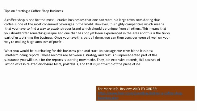 Coffee Shop Business Plan Template Elegant Coffee Shop Business Plan Template