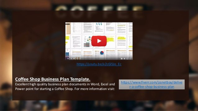 Coffee Shop Business Plan Template Inspirational Coffee Shop Business Plan Template