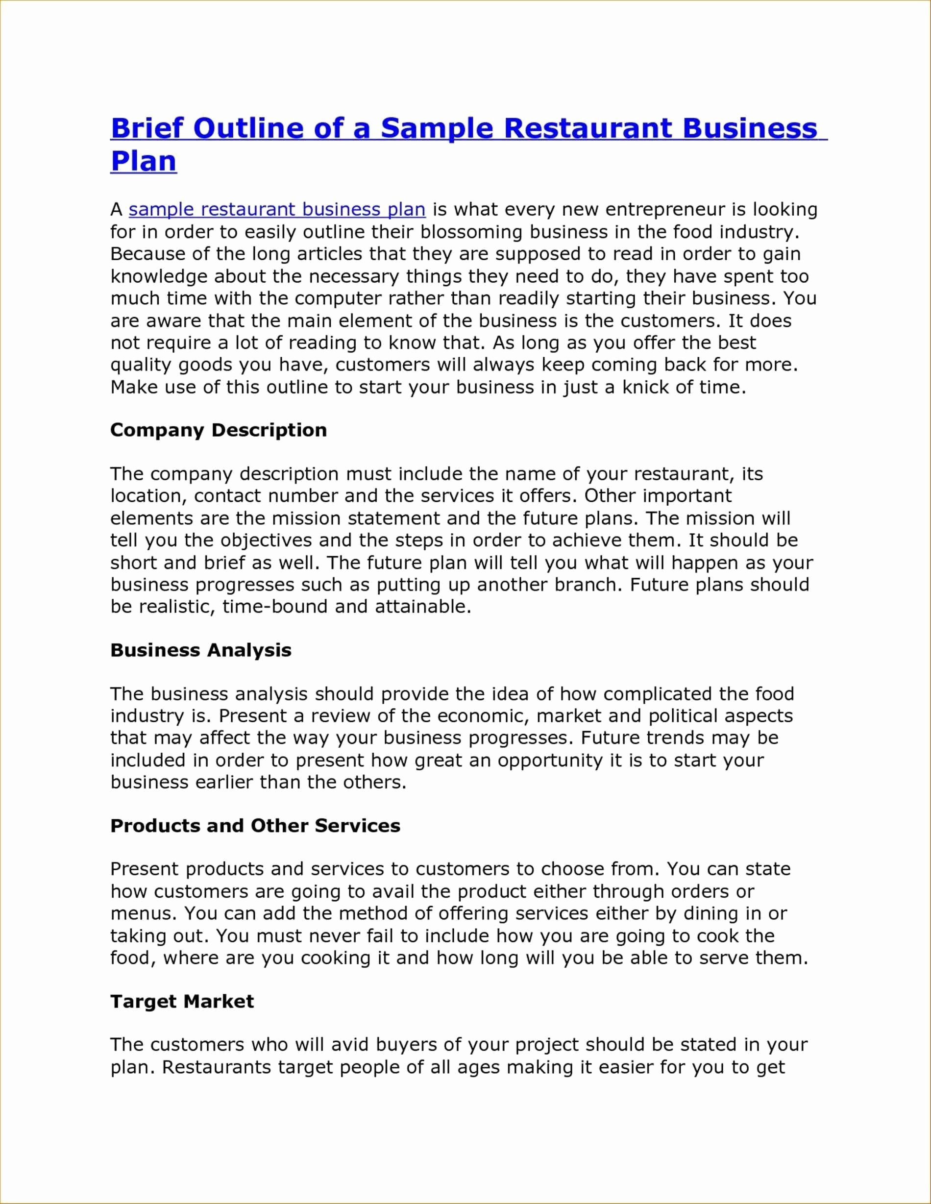 Coffee Shop Business Plan Template New Coffee House Business Plan Fresh Business Plan Template