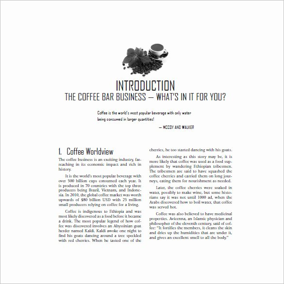 Coffee Shop Business Plan Template New Coffee Shop Business Plan Template 13 Free Word Excel