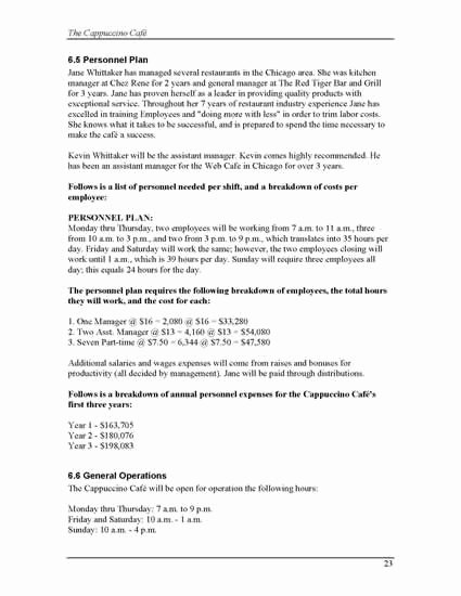 Coffee Shop Business Plan Template Unique Coffee Business Plan Sample