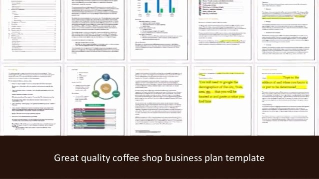 Coffee Shop Business Plan Template Unique Coffee Shop Business Plan Template