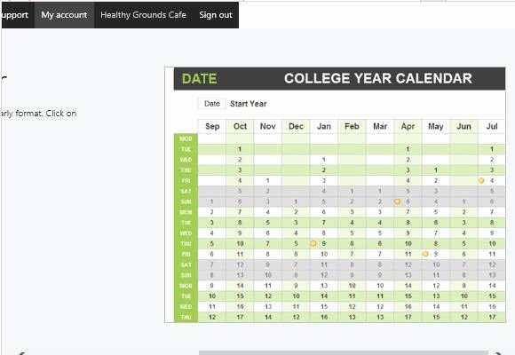 College 4 Year Plan Template Inspirational College Year Calendar Template for Excel