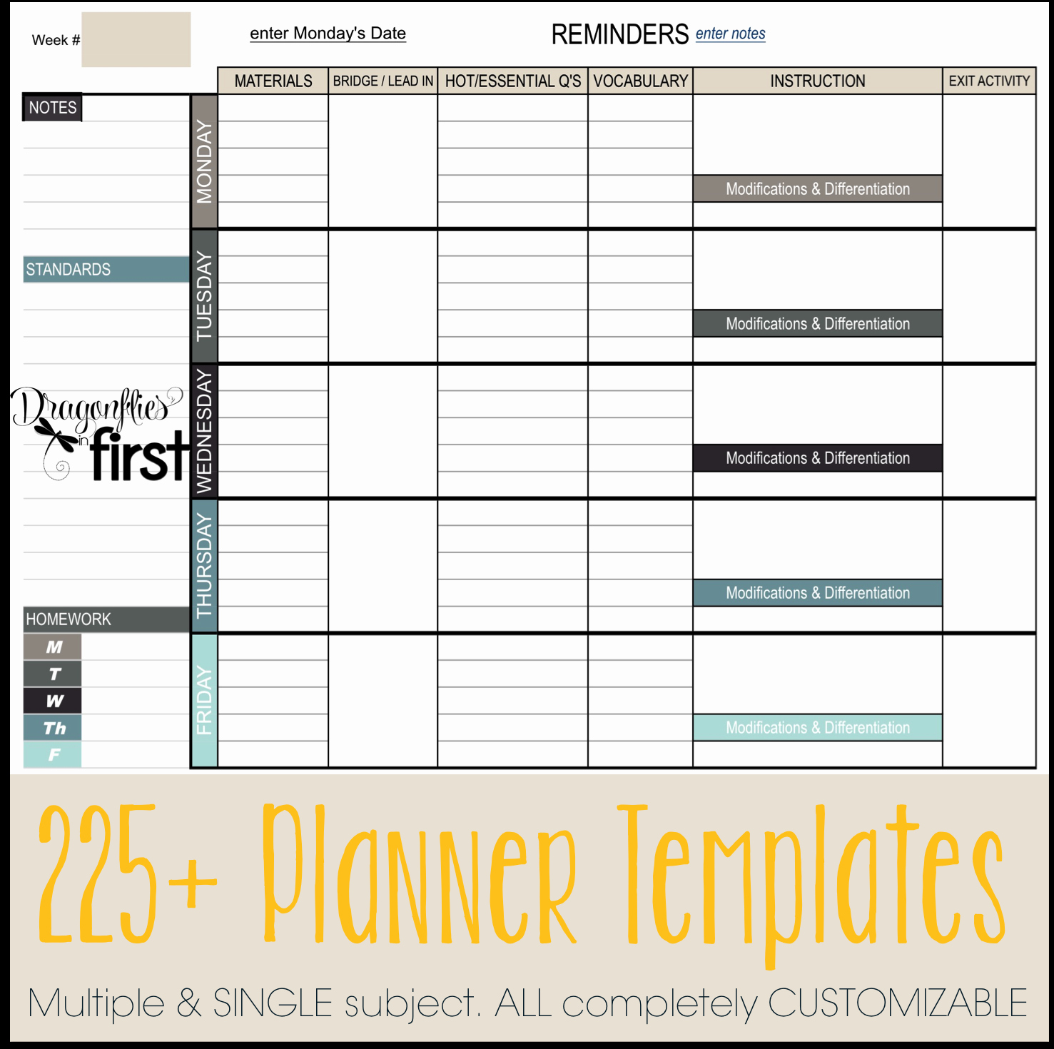 College 4 Year Plan Template Inspirational Teacher Planner • the Ultimate Weekly and Yearly Digital