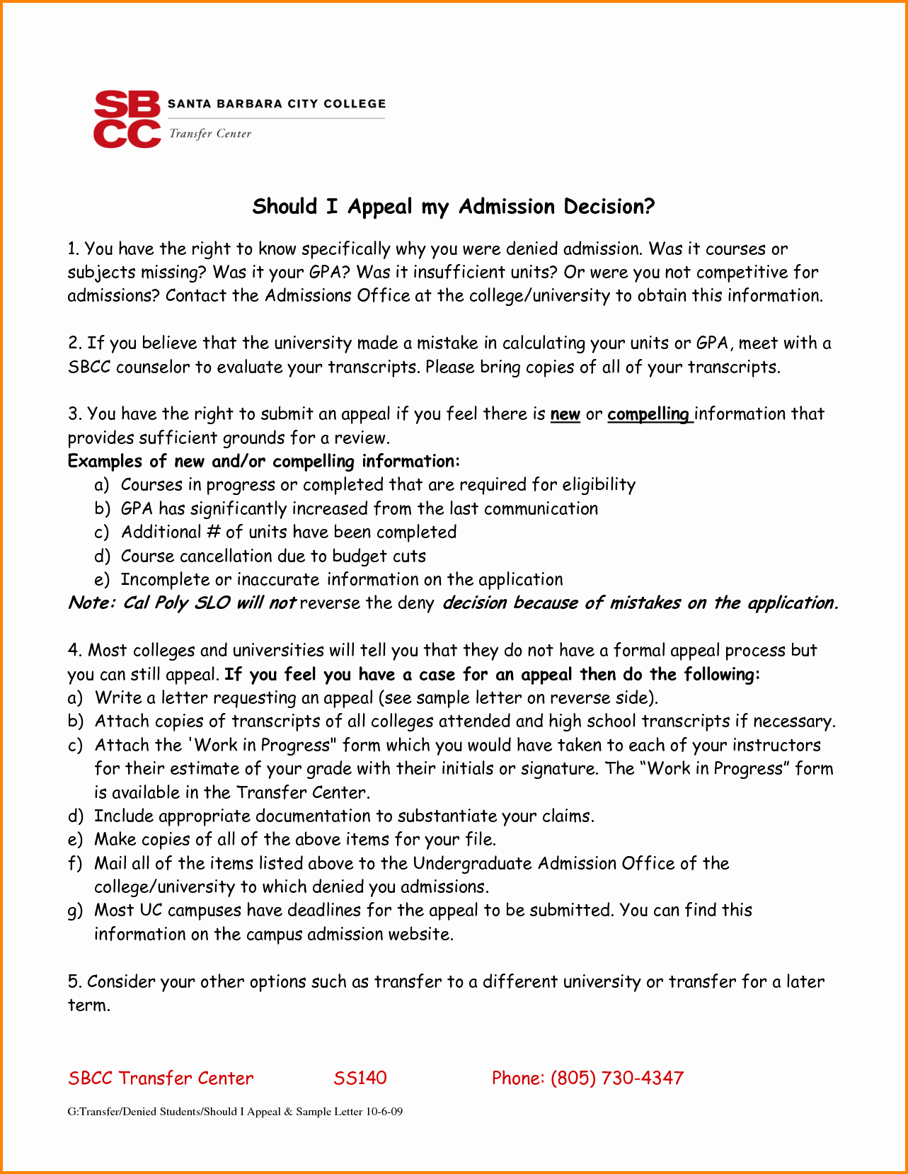 College Appeal Letter format Inspirational 6 Sample Appeal Letter for College Admission