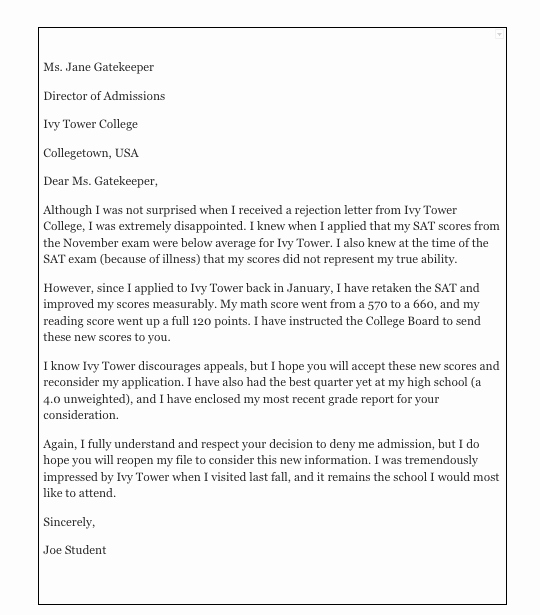 College Appeal Letter format Lovely How to Write An Appeal Letter for College