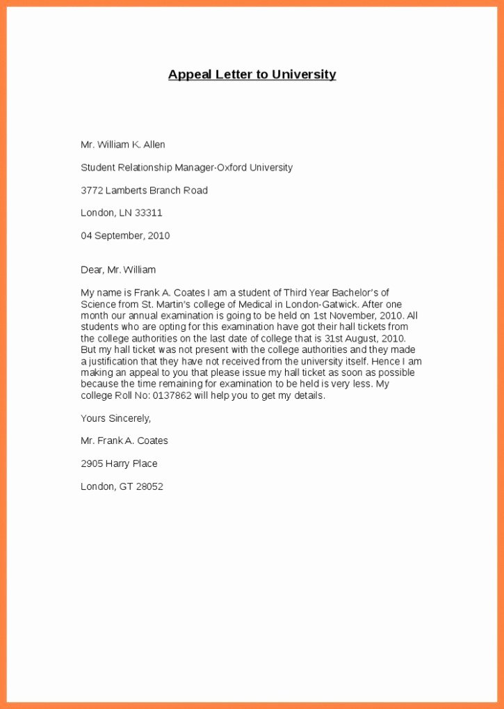 College Appeal Letter format Luxury How to Write Appeal Letter