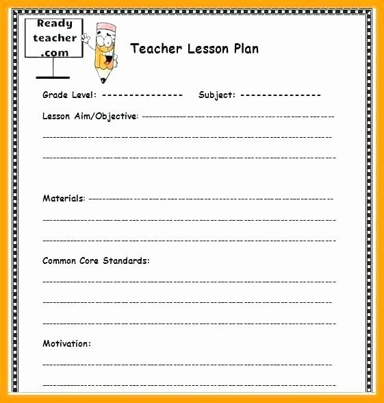 College Lesson Plan Template Inspirational College Lesson Plan Template Word