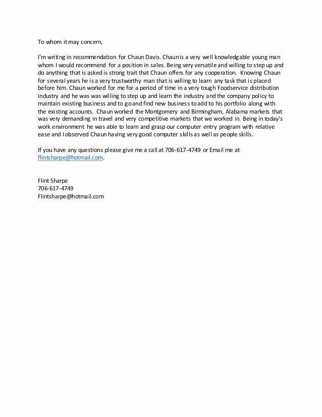 College Recommendation Letter From Alumni Sample Fresh Writing A Letter Of Re Mendation Young Black