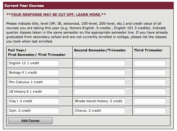 Common App Letter Of Recommendation Awesome How to Fill Out Your Current Year Courses On the Mon