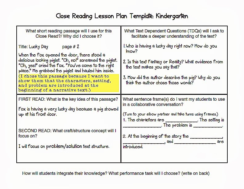 Common Core Lesson Plan Template Awesome Mon Core Blogger February 2014