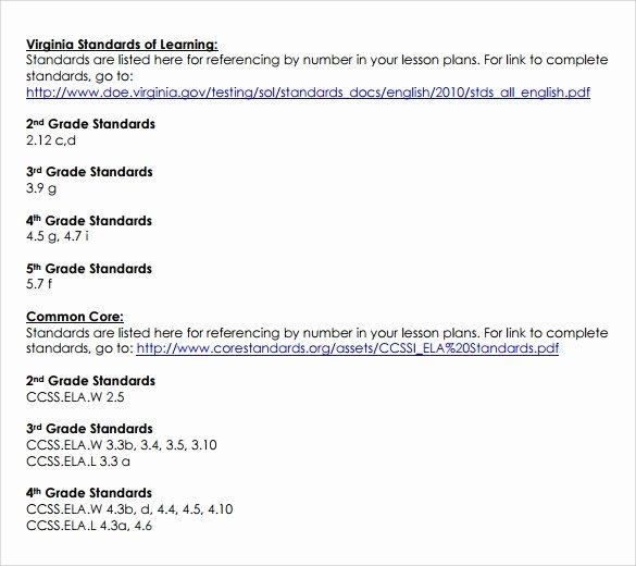 Common Core Lesson Plan Template Best Of 9 Mon Core Lesson Plan Samples
