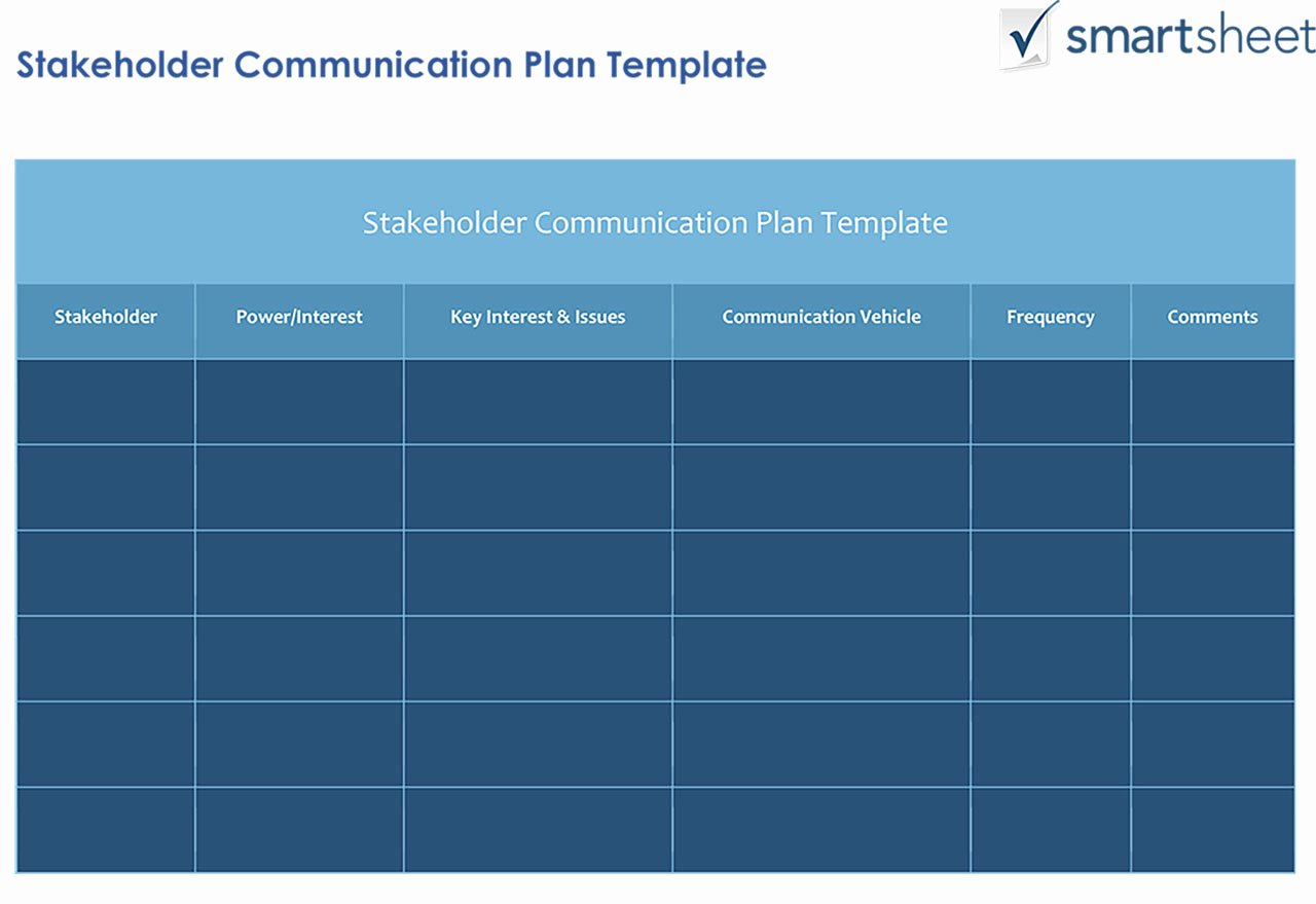 Communication Management Plan Template Elegant How to Create A Stakeholder Management Plan Smartsheet