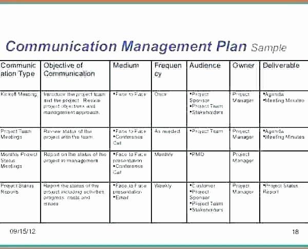 Communication Management Plan Template Elegant Munication Matrix Template