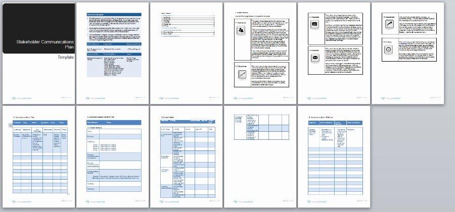 Communication Management Plan Template Elegant Stakeholder Munication Plan Change Management Methodology