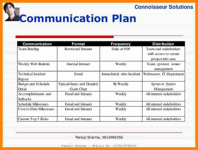 Communication Management Plan Template Inspirational 11 Munication Plan Project Management