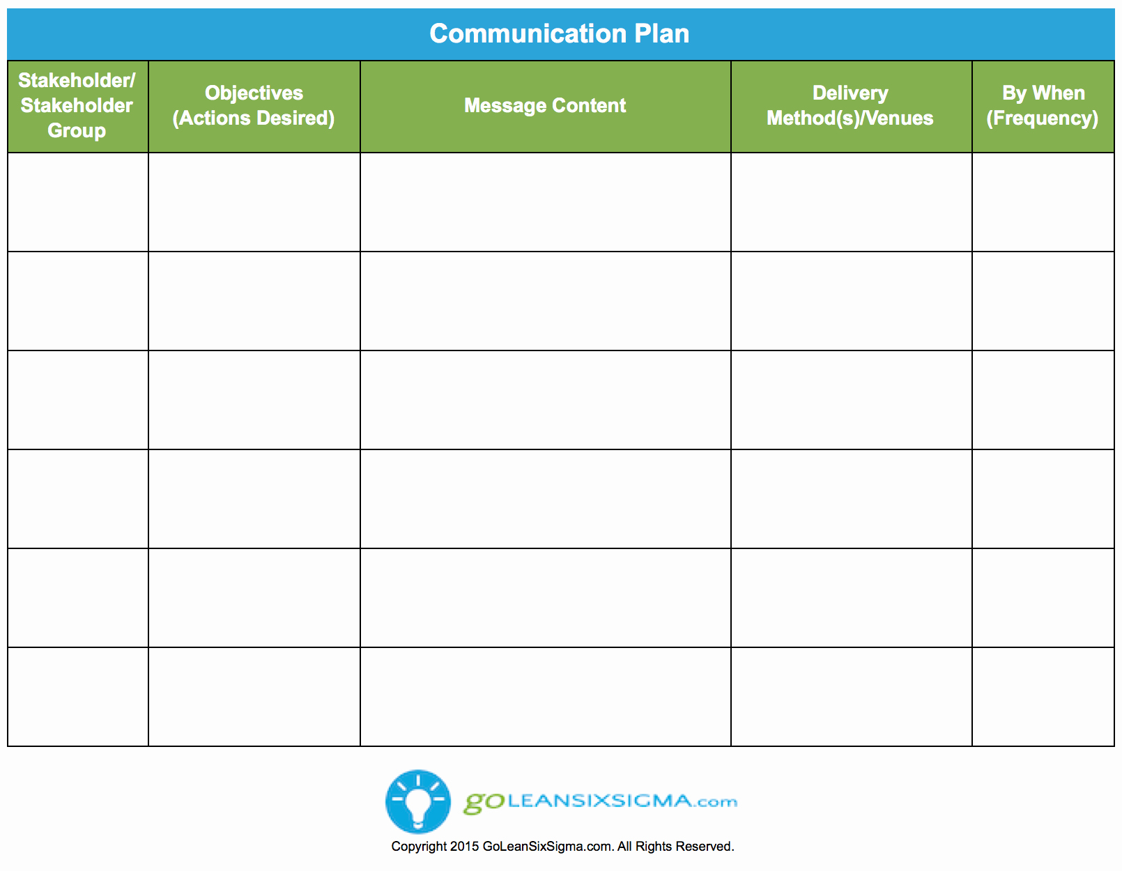 Communication Plan Template Excel Fresh Pilot Checklist Goleansixsigma