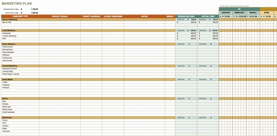 Communication Plan Template Excel Lovely 32 Free Excel Spreadsheet Templates