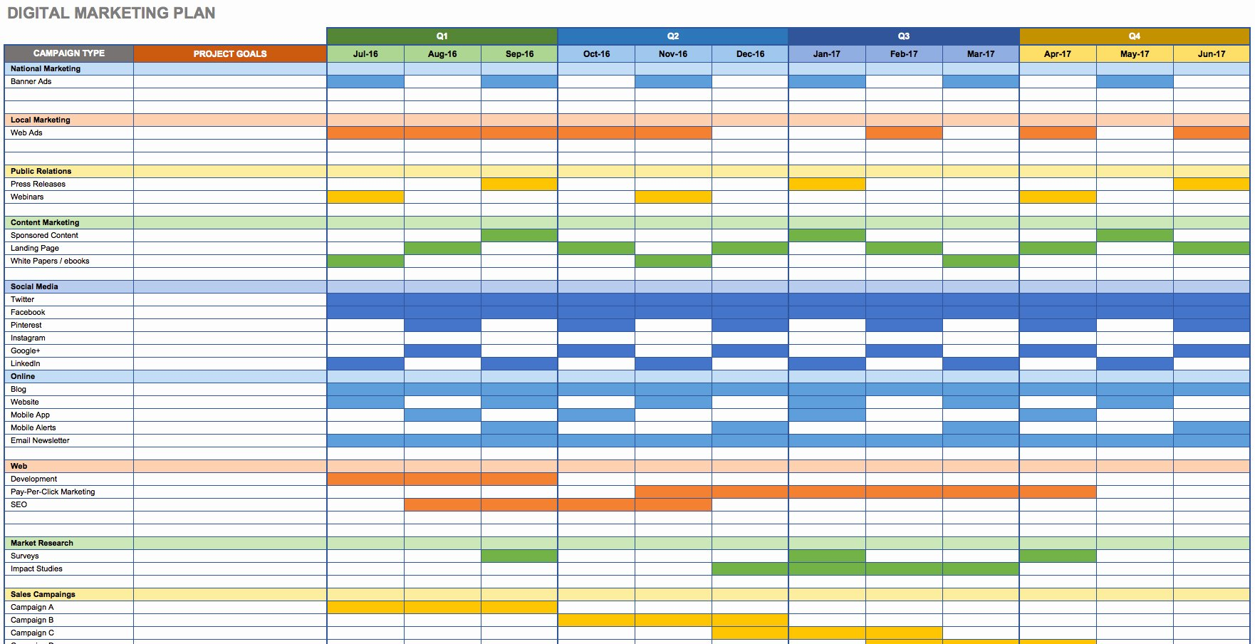 Communication Plan Template Excel Lovely Marketing Calendar Excel