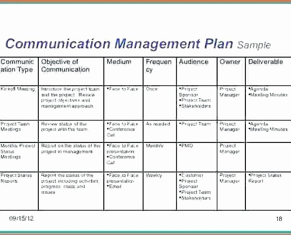 Communication Plan Template Excel Lovely Munication Matrix Template