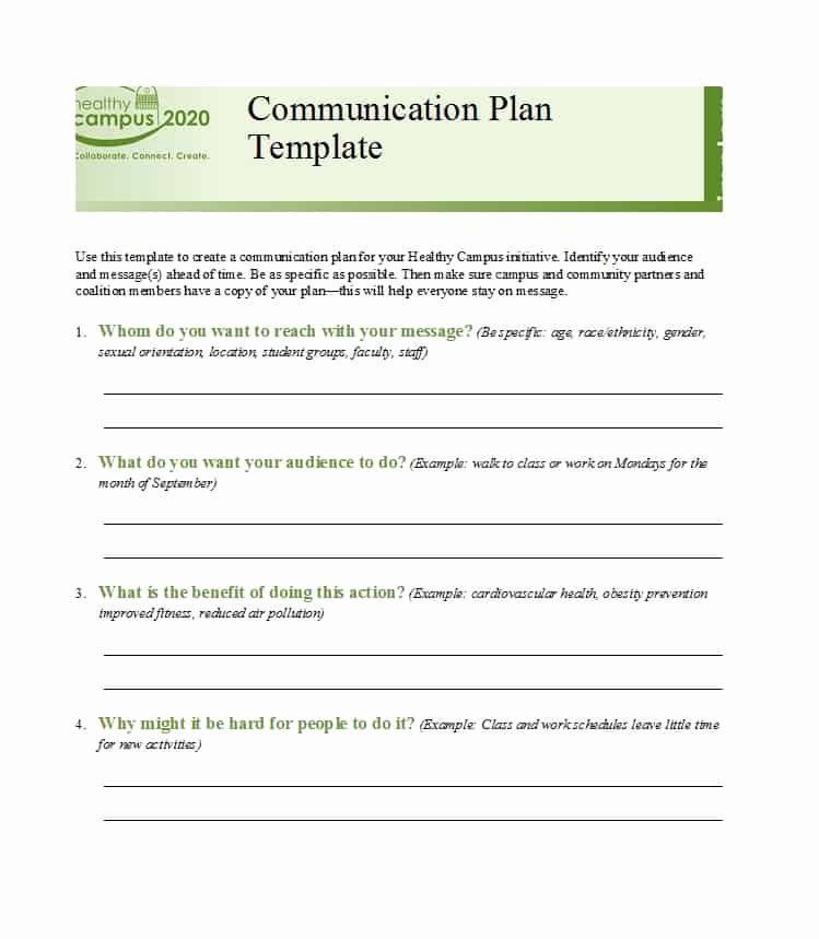 Communication Plan Template Free Lovely 37 Simple Munication Plan Examples Free Templates