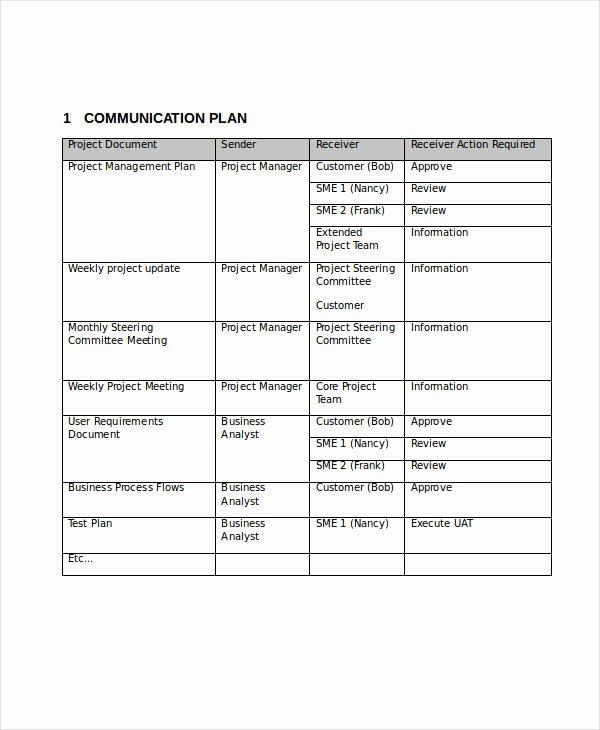 Communication Plan Template Word Fresh Free Munication Plan Templates 37 Free Word Pdf