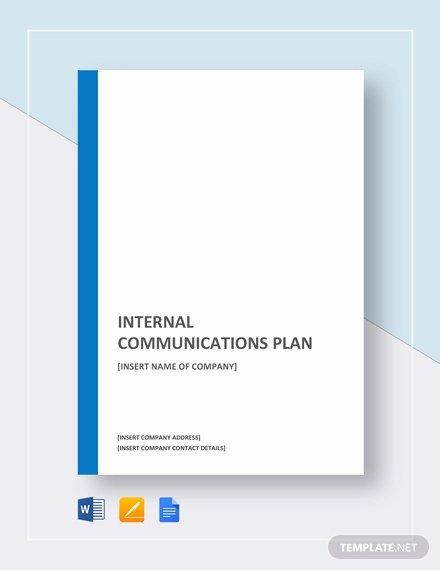 Communication Plan Template Word Fresh Internal Munications Plan Template Download 328 Plans