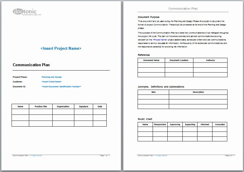 Communication Plan Template Word Luxury Munication Plan Template