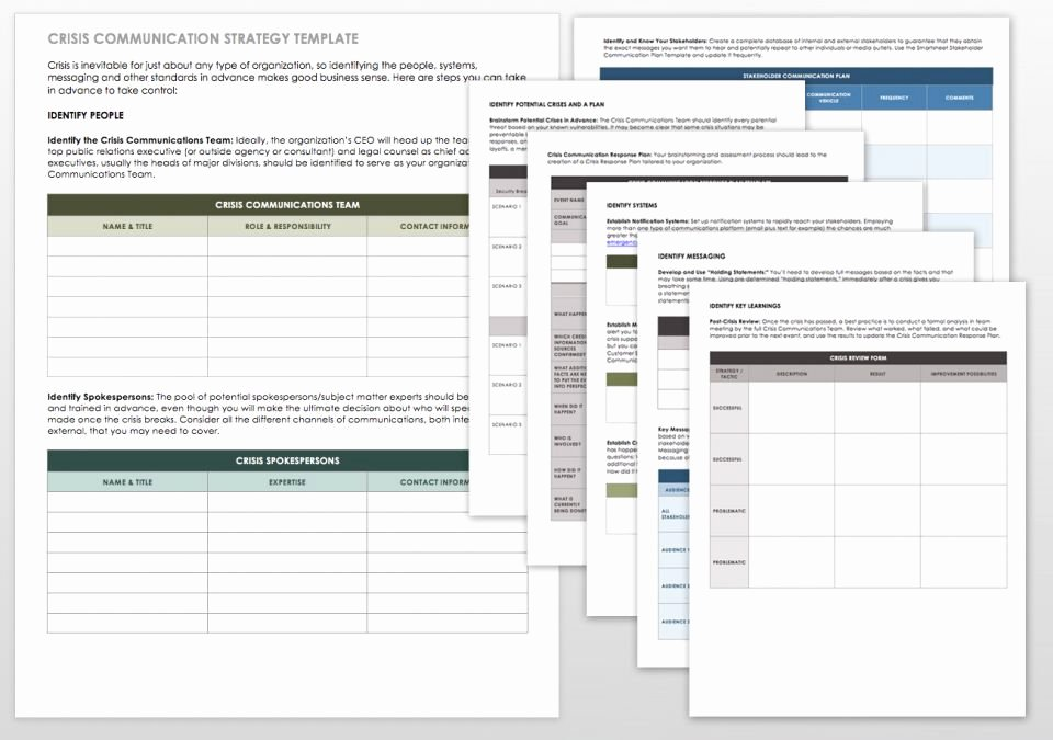 munications strategy how to templates