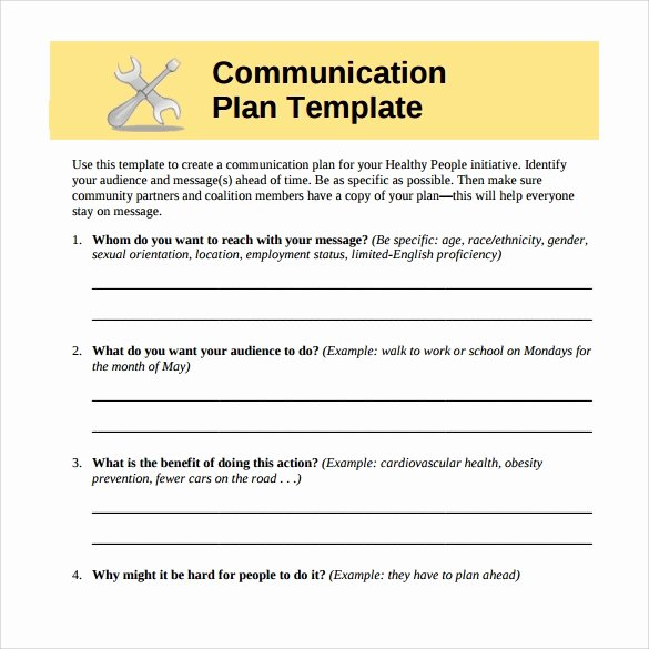 Communications Plan Template Word Lovely 8 Sample Munication Plans