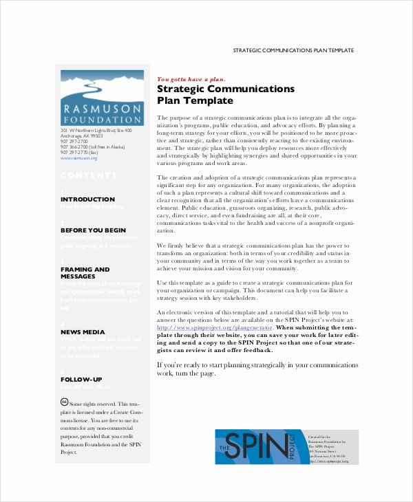 Communications Plan Template Word Luxury Strategic Planning Template 13 Free Pdf Word Documents