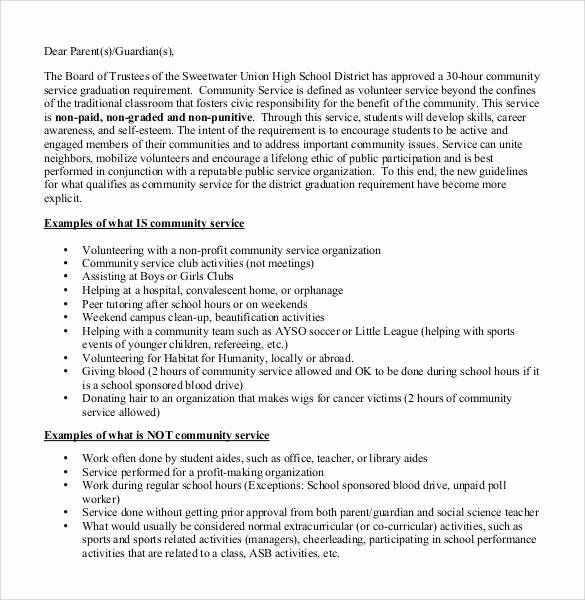 Community Service Letter Of Recommendation Awesome Sample Munity Service Letter 25 Download Free