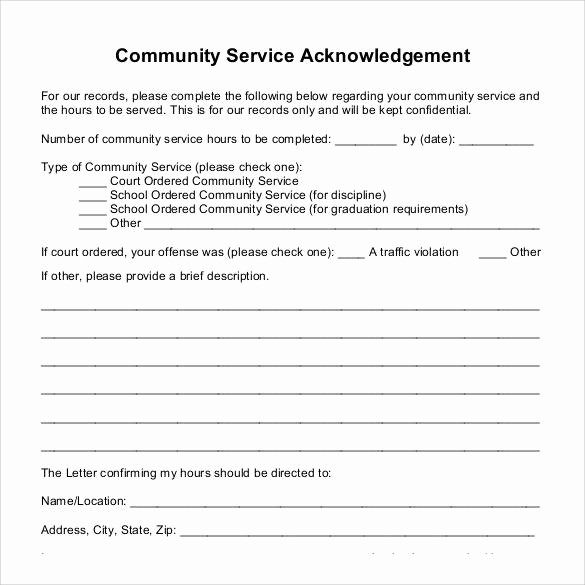 Community Service Recommendation Letter Unique 22 Munity Service Letters to Download for Free