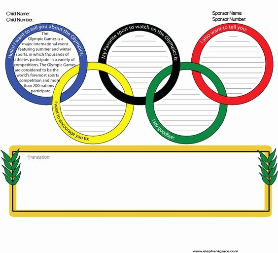 Compassion Letter Writing Template Inspirational Olympic themed Letter Writing Template for Passion