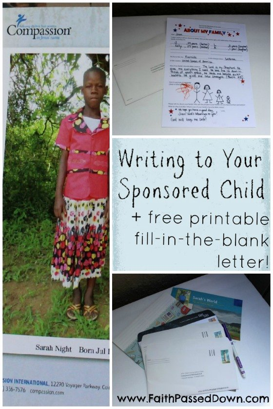Compassion Letter Writing Template Lovely Wrapping Up 31 Days Of Global Missions with Kids